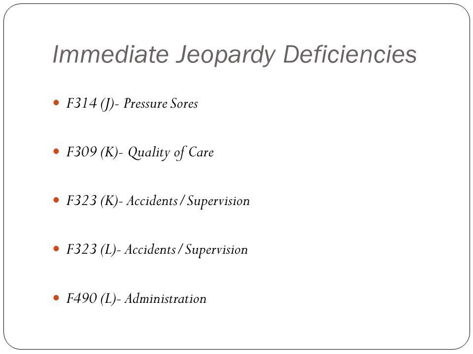 Immediate Jeopardy Deficiencies