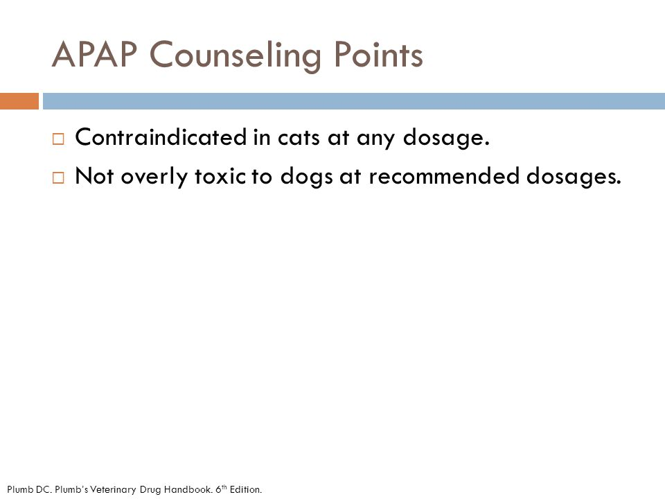 APAP Counseling Points