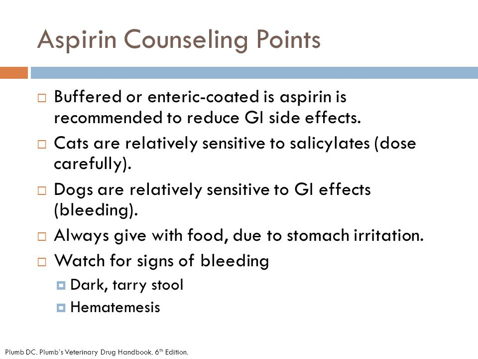Aspirin Counseling Points