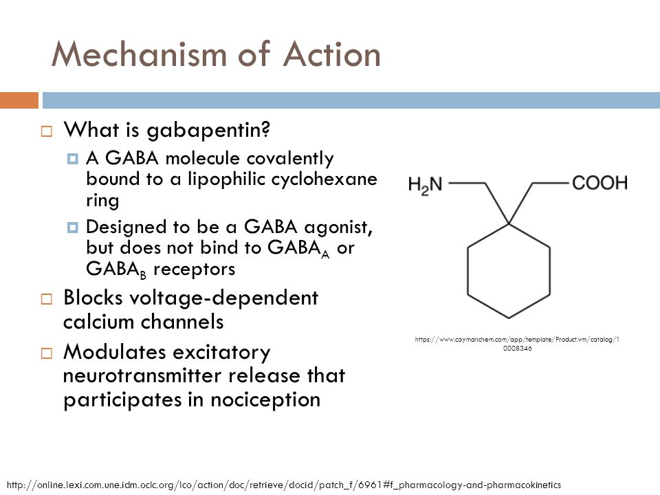 Mechanism of Action What is gabapentin