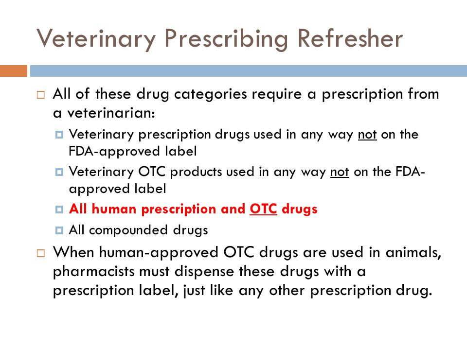 Veterinary Prescribing Refresher