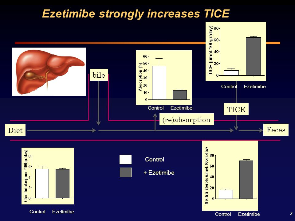 Ezetimibe strongly increases TICE