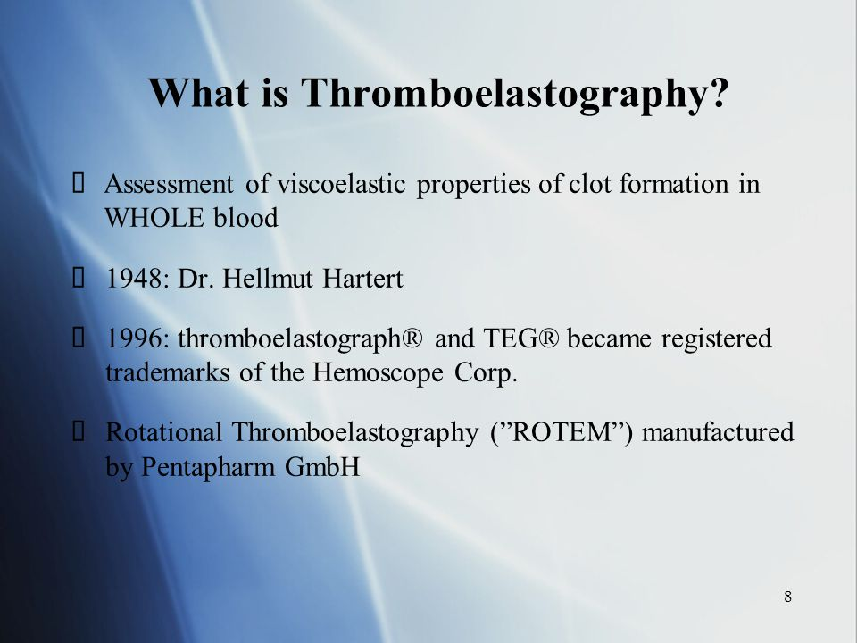 What is Thromboelastography