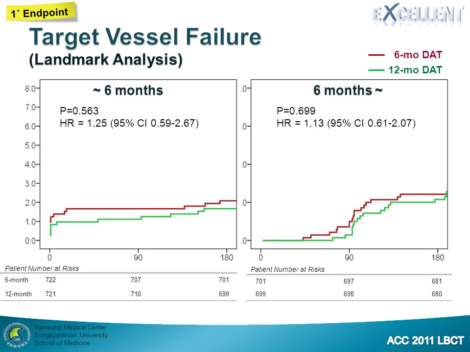 Target Vessel Failure (Landmark Analysis) ~ 6 months 6 months ~