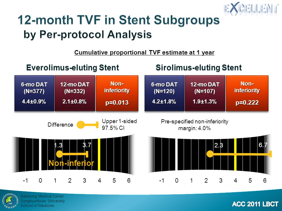 12-month TVF in Stent Subgroups by Per-protocol Analysis