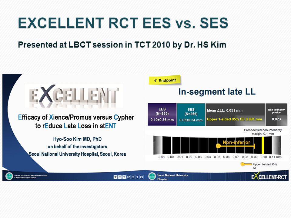 EXCELLENT RCT EES vs. SES