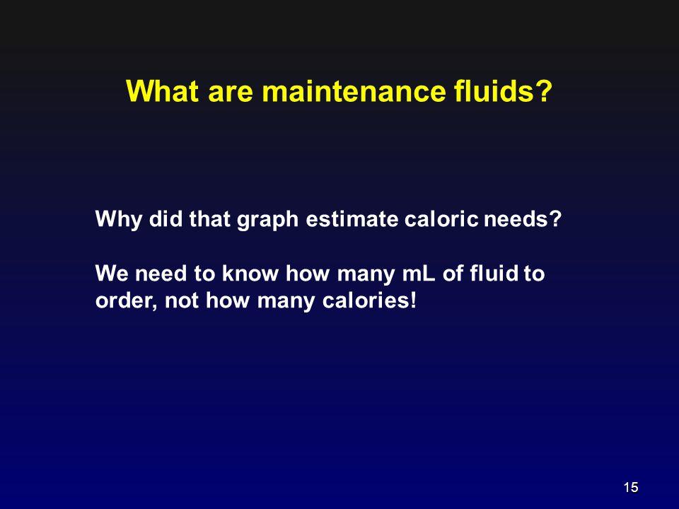 What are maintenance fluids