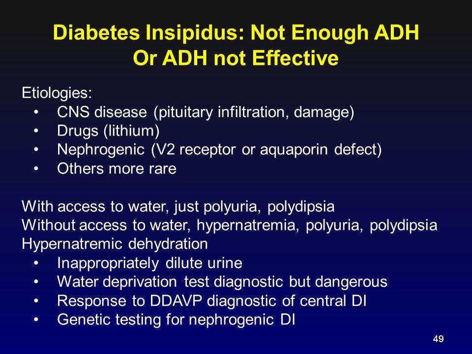 Diabetes Insipidus: Not Enough ADH