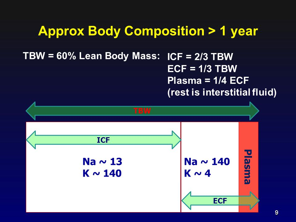 Approx Body Composition > 1 year