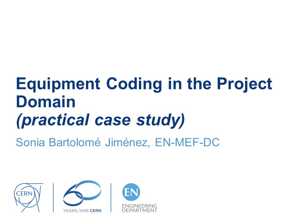 Equipment Coding in the Project Domain (practical case study)