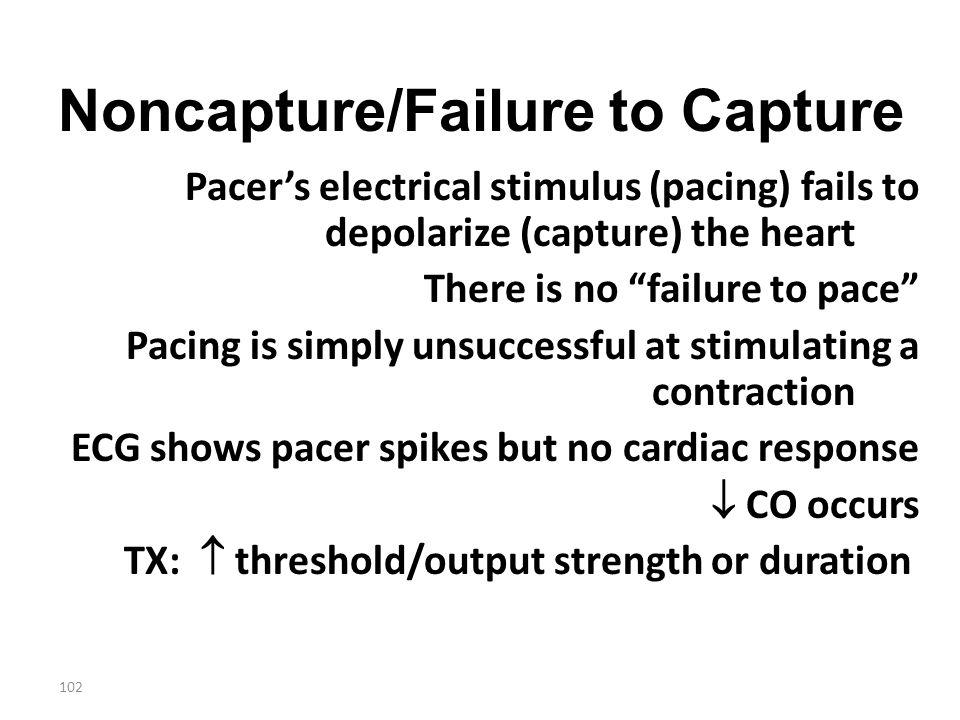 Noncapture/Failure to Capture