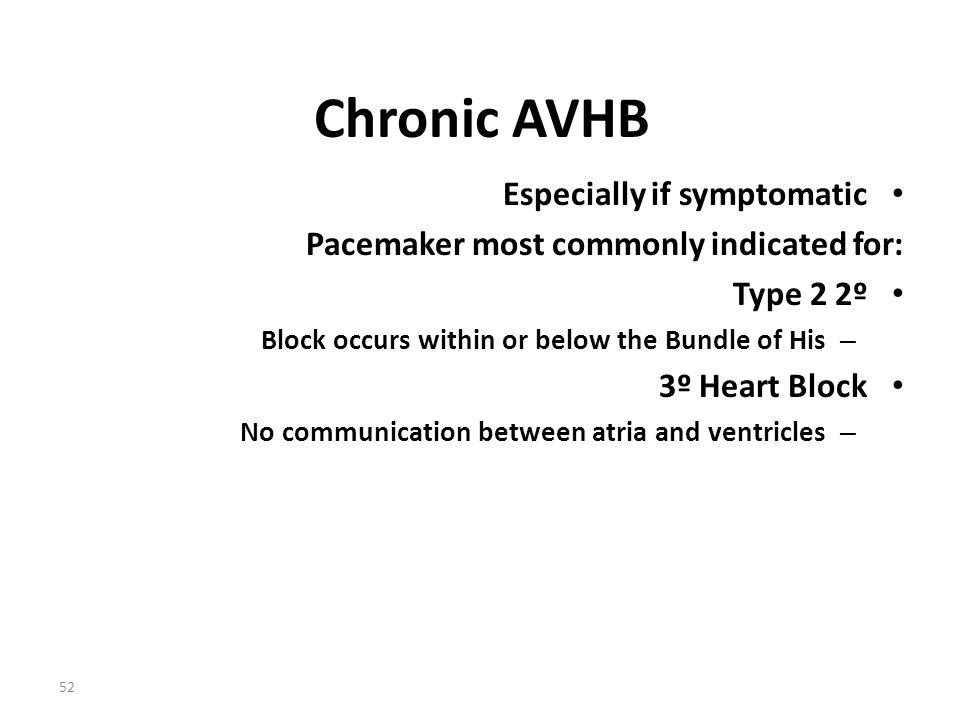 Chronic AVHB Especially if symptomatic