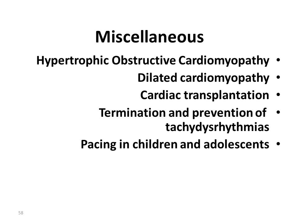Miscellaneous Hypertrophic Obstructive Cardiomyopathy