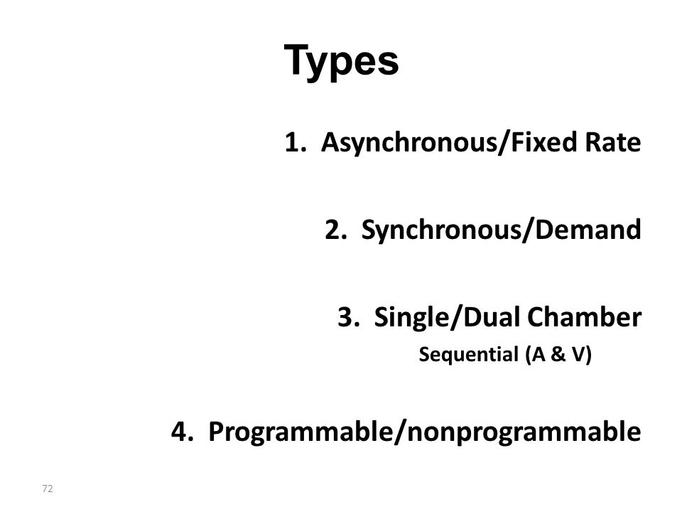 Types 1. Asynchronous/Fixed Rate 2. Synchronous/Demand