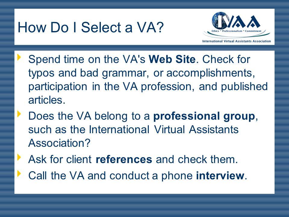 How Do I Select a VA