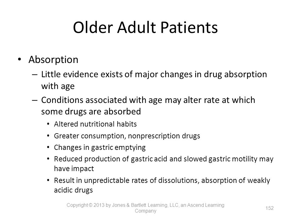 Older Adult Patients Absorption