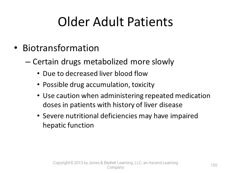 Older Adult Patients Biotransformation