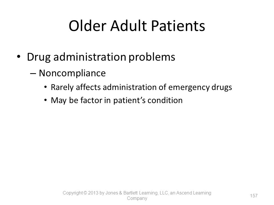 Older Adult Patients Drug administration problems Noncompliance