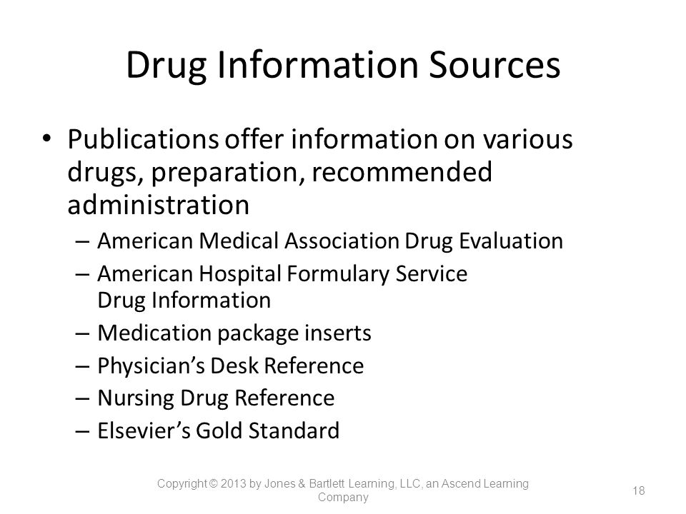 Drug Information Sources