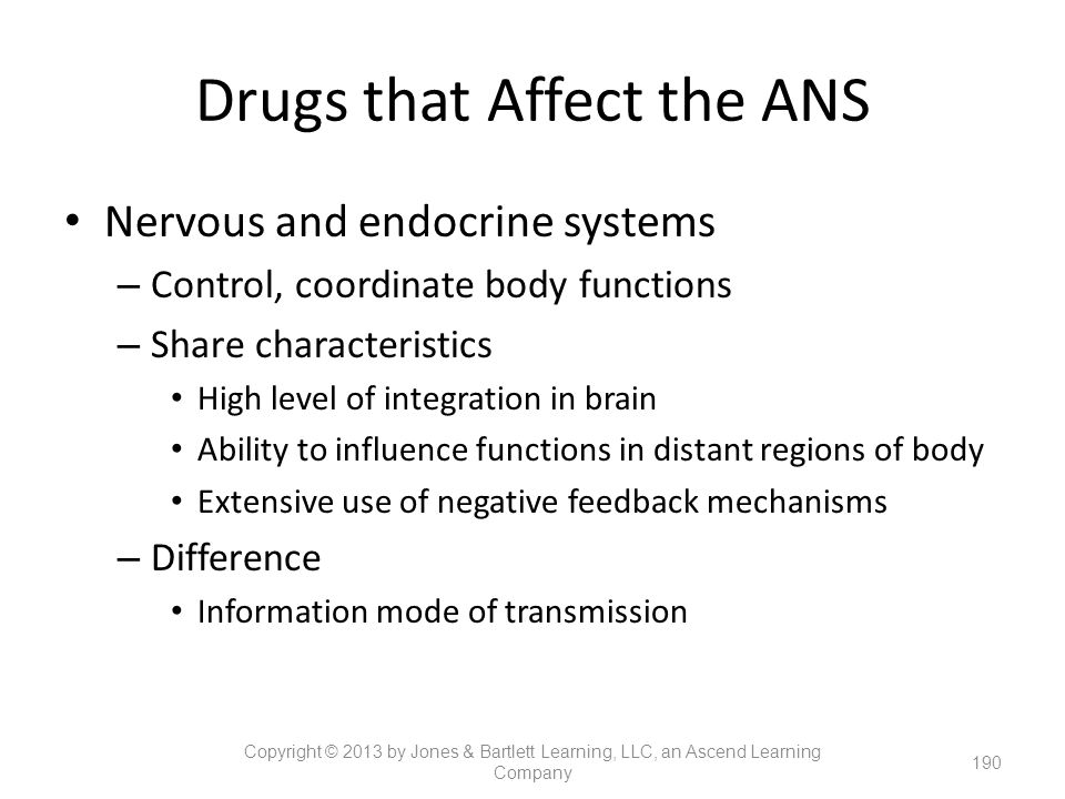 Drugs that Affect the ANS