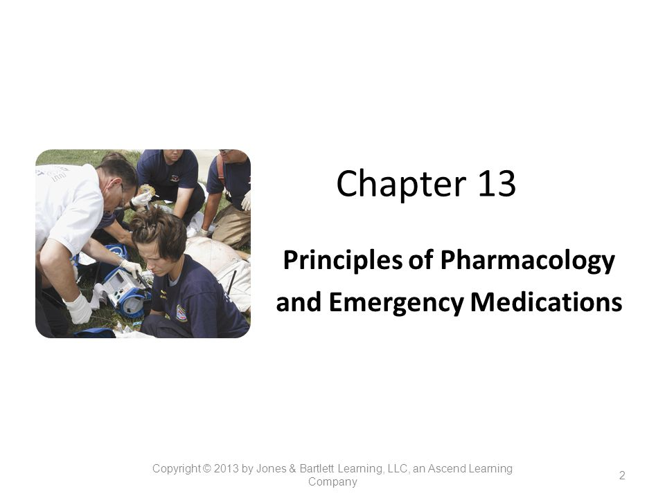 Principles of Pharmacology and Emergency Medications
