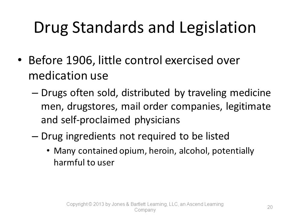 Drug Standards and Legislation