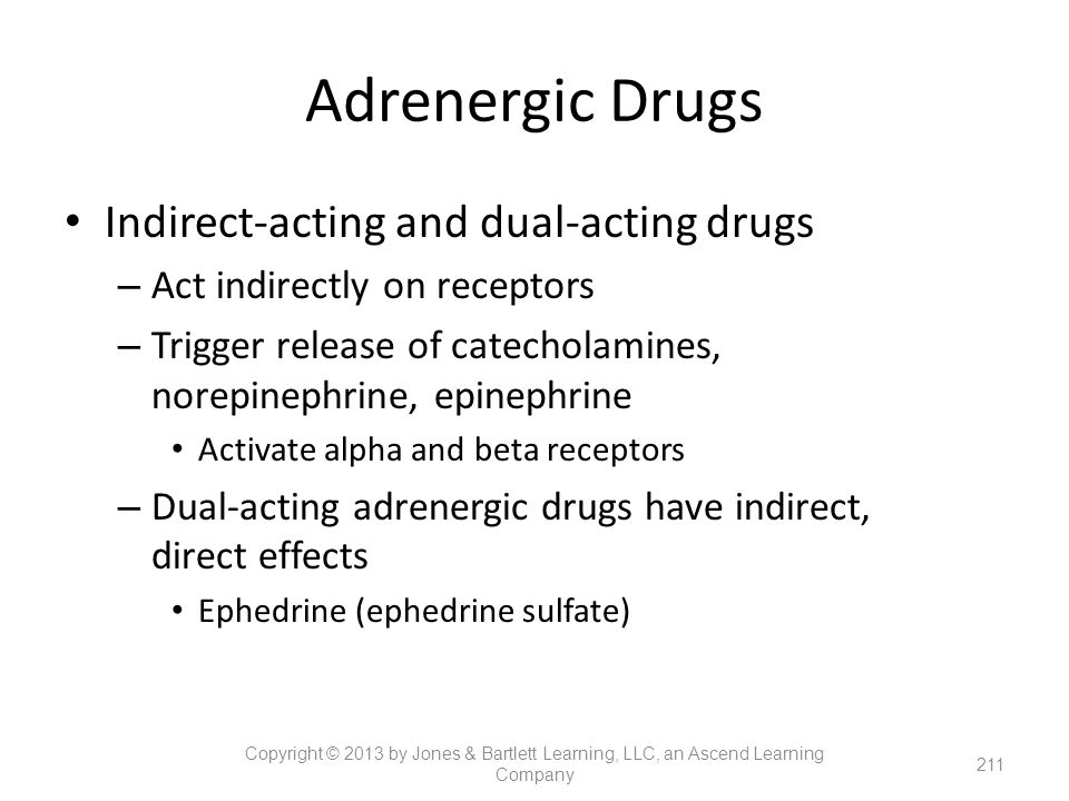 Adrenergic Drugs Indirect-acting and dual-acting drugs