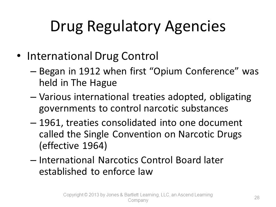 Drug Regulatory Agencies