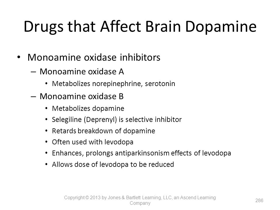 Drugs that Affect Brain Dopamine