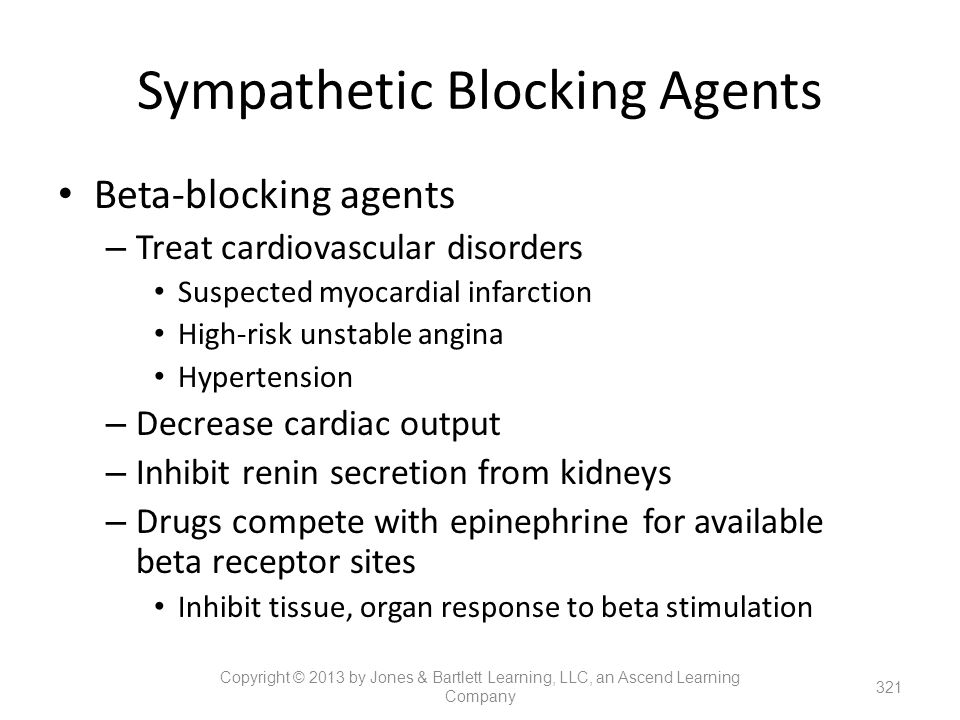 Sympathetic Blocking Agents