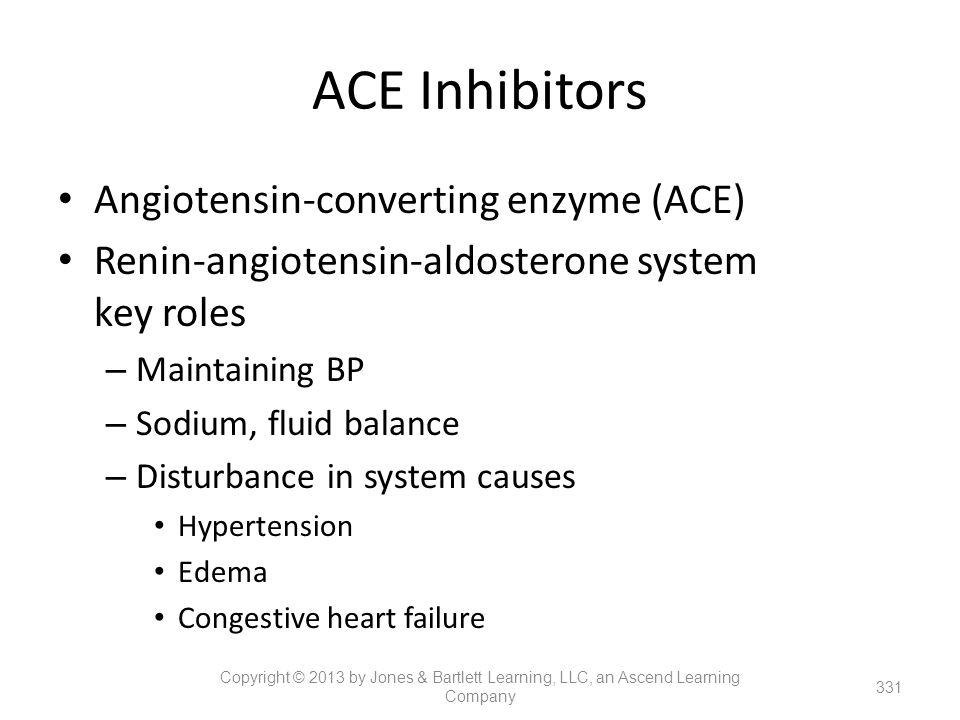 ACE Inhibitors Angiotensin-converting enzyme (ACE)