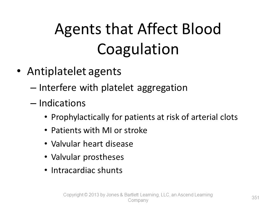 Agents that Affect Blood Coagulation