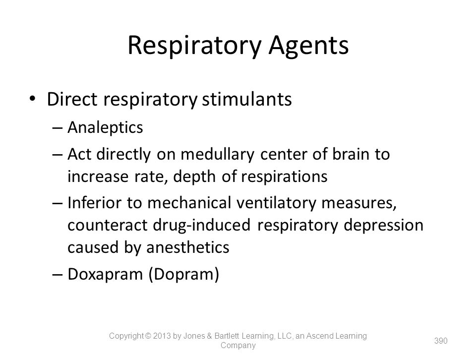 Respiratory Agents Direct respiratory stimulants Analeptics