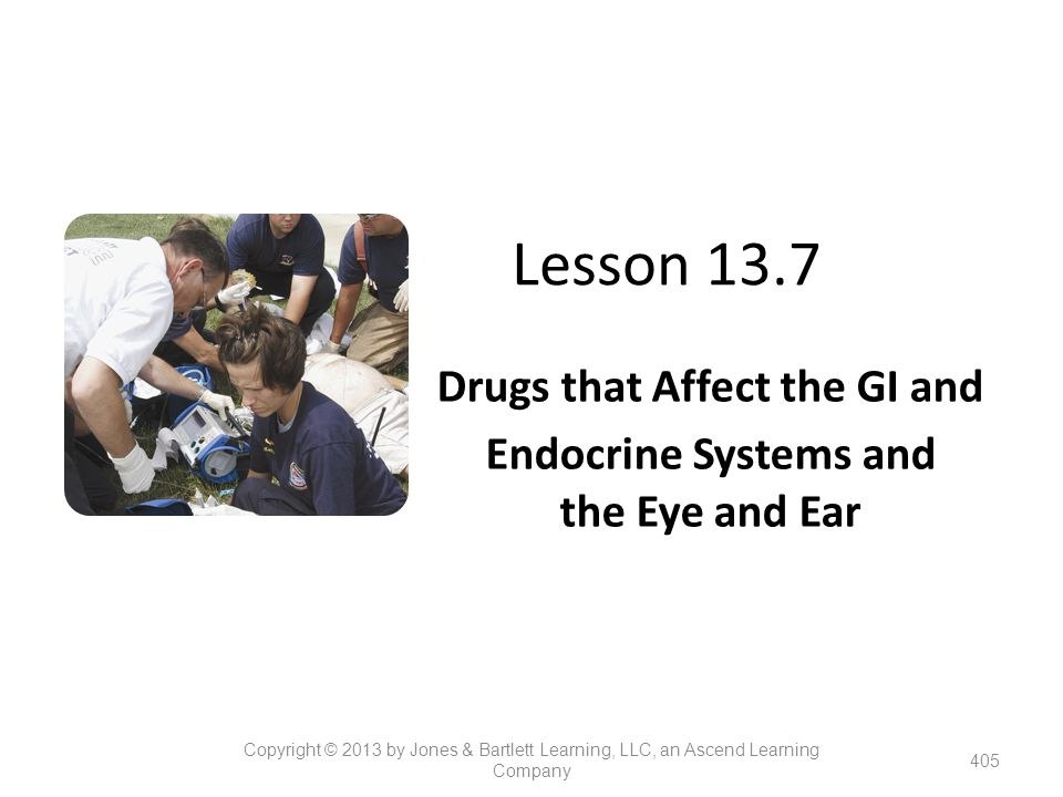 Drugs that Affect the GI and Endocrine Systems and the Eye and Ear