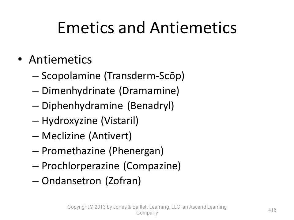 Emetics and Antiemetics
