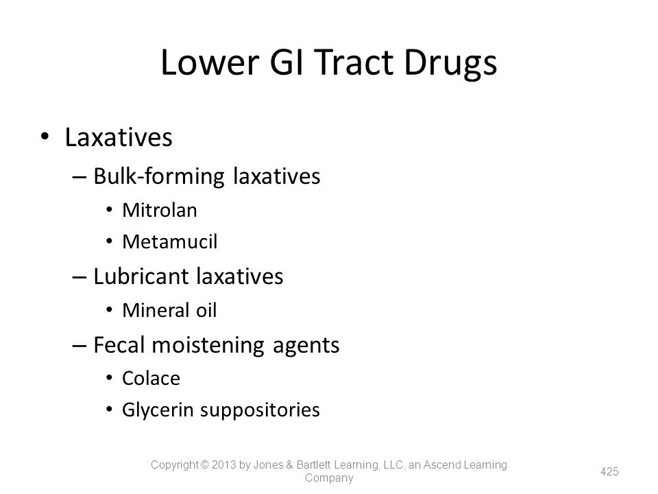 Lower GI Tract Drugs Laxatives Bulk-forming laxatives