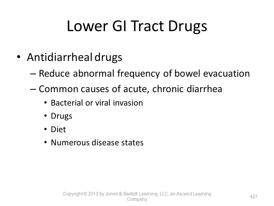 Lower GI Tract Drugs Antidiarrheal drugs