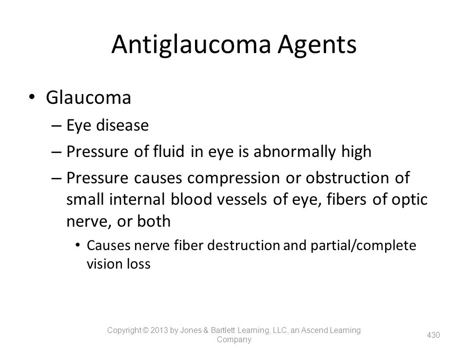 Antiglaucoma Agents Glaucoma Eye disease