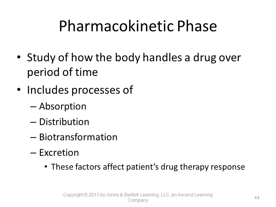 Pharmacokinetic Phase