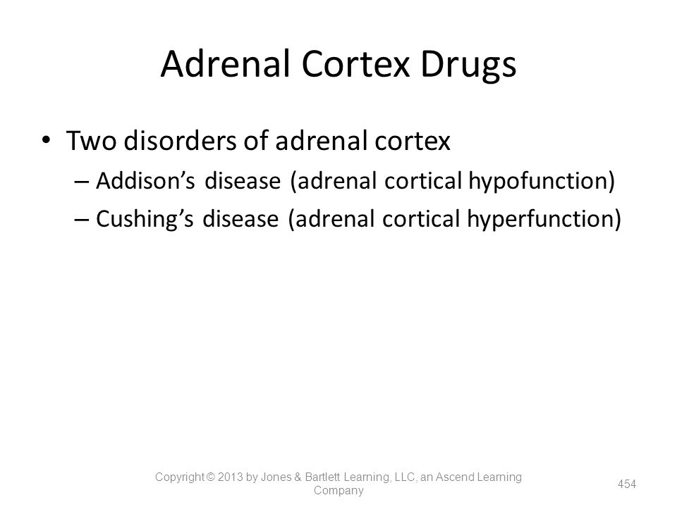 Adrenal Cortex Drugs Two disorders of adrenal cortex