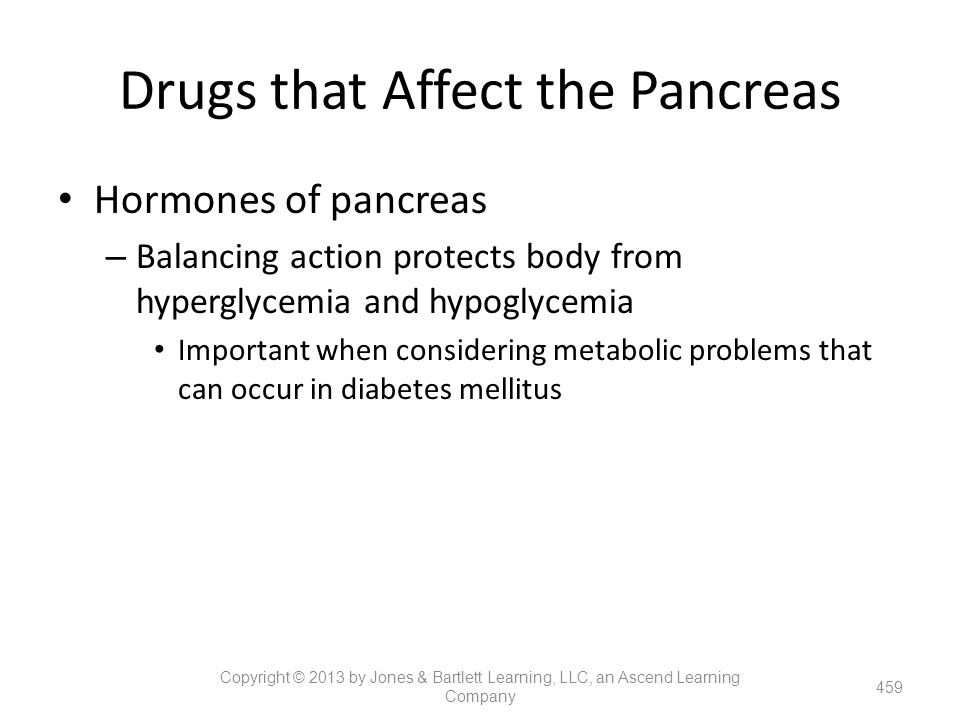Drugs that Affect the Pancreas
