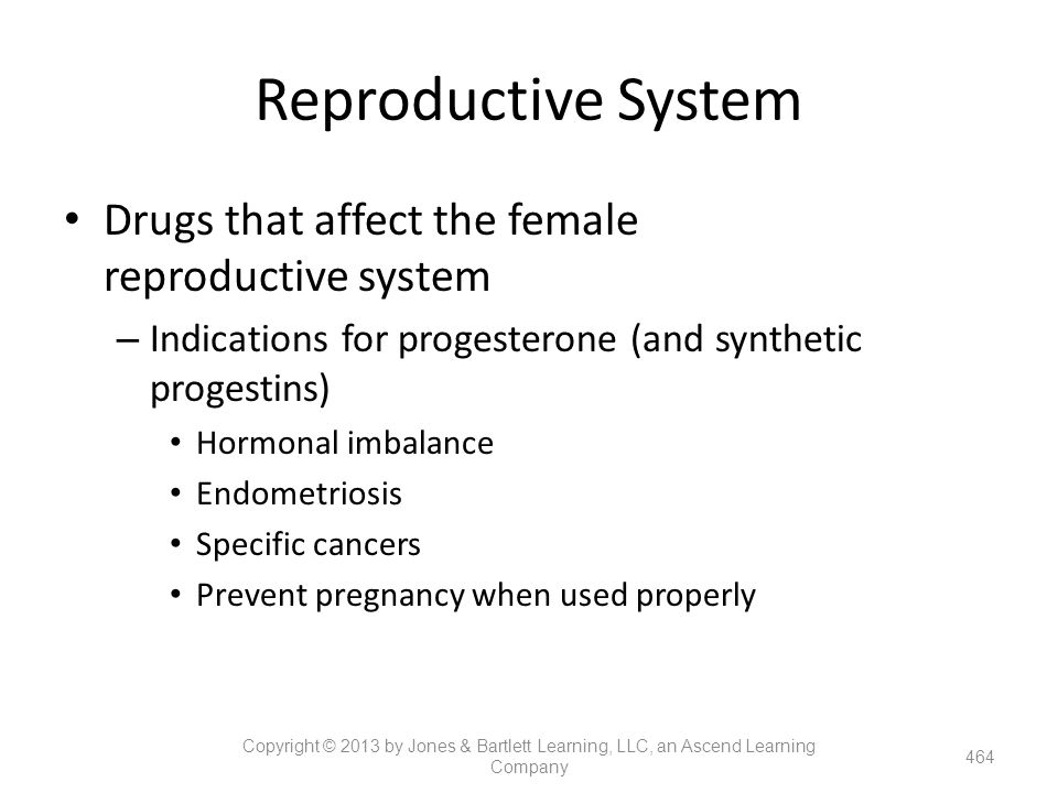 Reproductive System Drugs that affect the female reproductive system