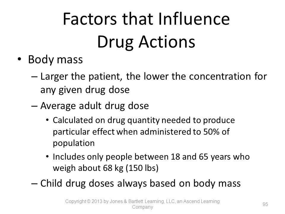Factors that Influence Drug Actions