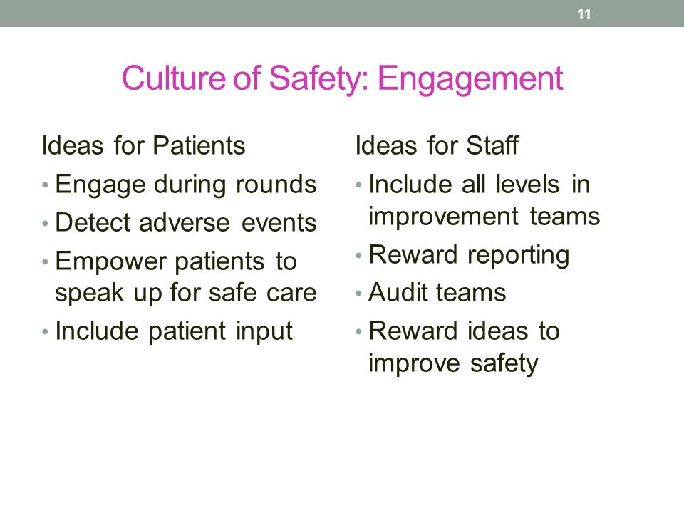 Culture of Safety: Engagement