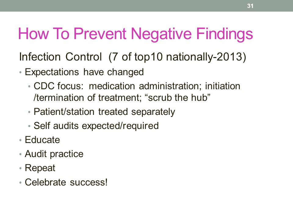 How To Prevent Negative Findings