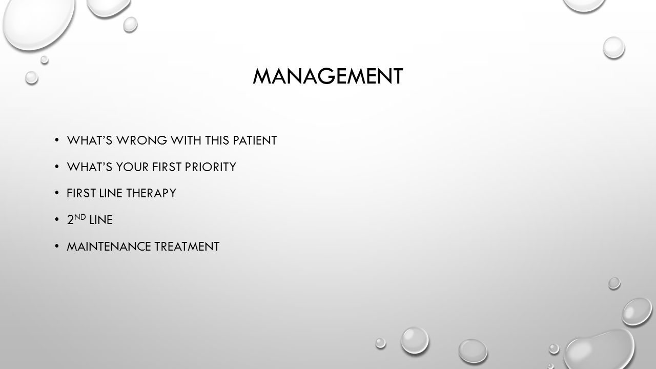 management What's wrong with this patient What's your first priority