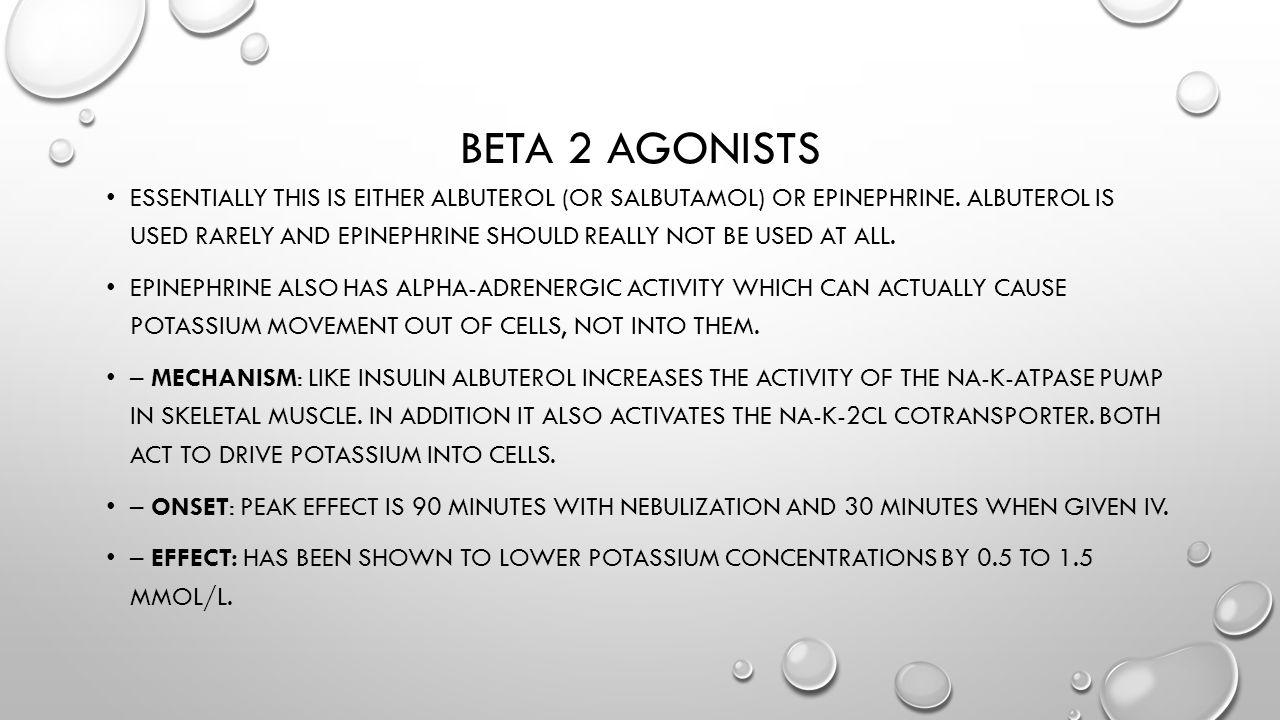 Beta 2 agonists
