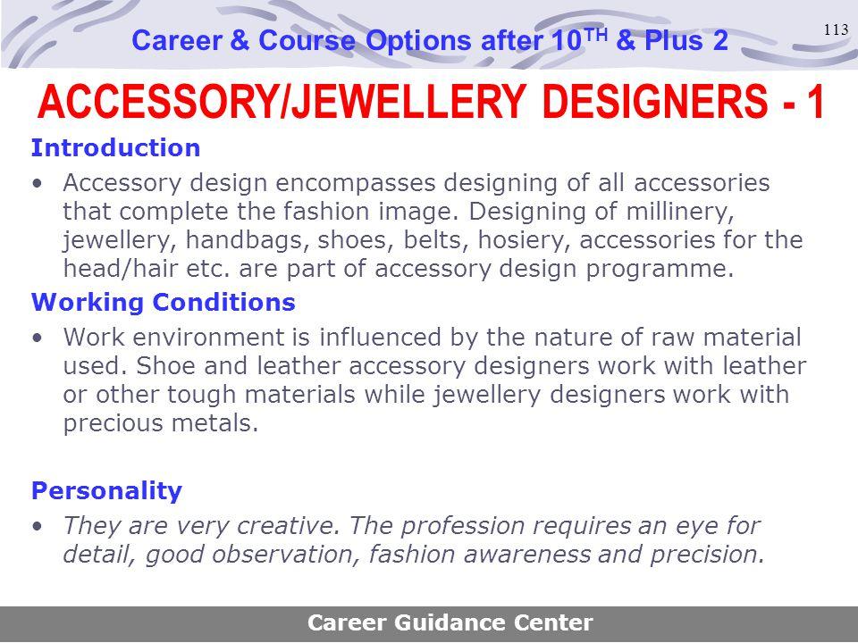 ACCESSORY/JEWELLERY DESIGNERS - 1