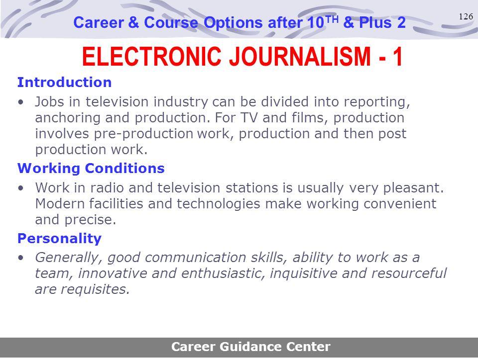 ELECTRONIC JOURNALISM - 1
