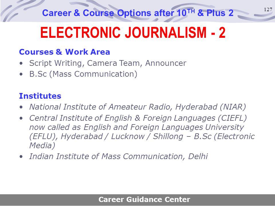 ELECTRONIC JOURNALISM - 2